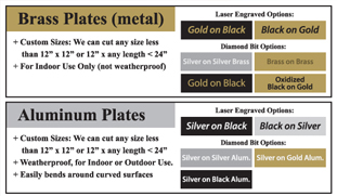 engraved metal options