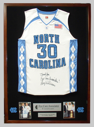 UNC Basketball Jersey Plaque