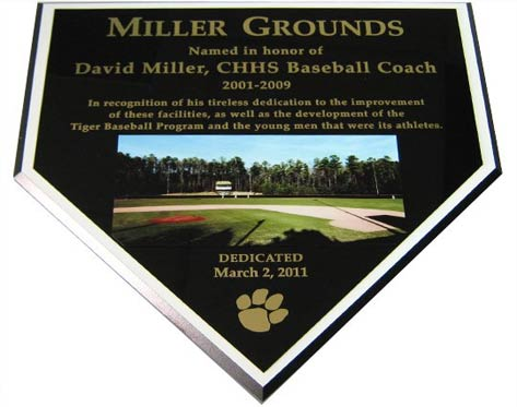 home plate baseball plaque