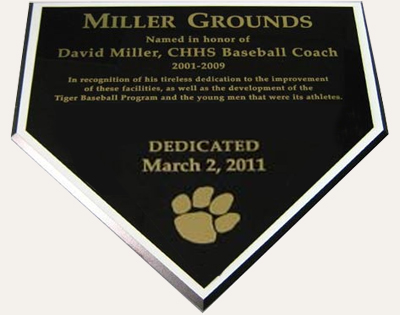 laser engraved homeplate plaque