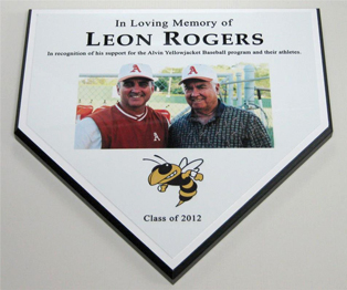 Color Home Plate Plaque